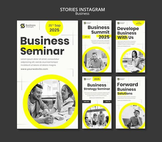 Projekt szablonu biznesowego insta story