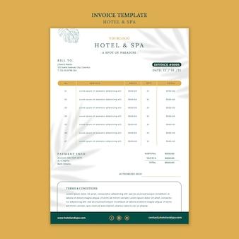 Projekt szablonu faktury za wynajem luksusowych wakacji