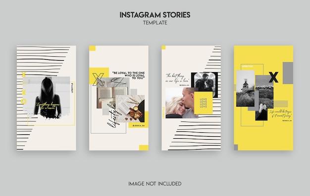 Projekt szablonu historii na instagramie w stylu życia