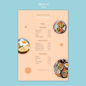 Projekt szablonu menu żywności