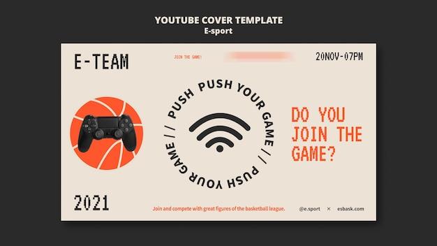 Projekt szablonu okładki e-sportu na youtube