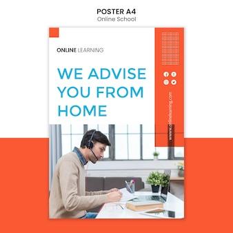 Projekt szablonu plakat szkoły online