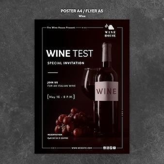 Projekt szablonu plakat wina