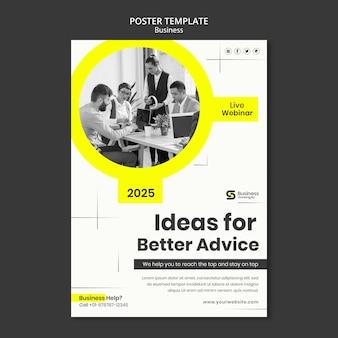 Projekt szablonu plakatu biznesowego