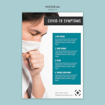 Projekt szablonu plakatu covid-19