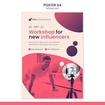 Projekt szablonu plakatu dla influencerów