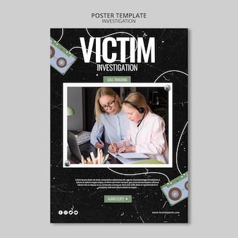 Projekt szablonu plakatu dochodzenia