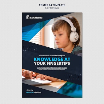 Projekt szablonu plakatu e-learningowego