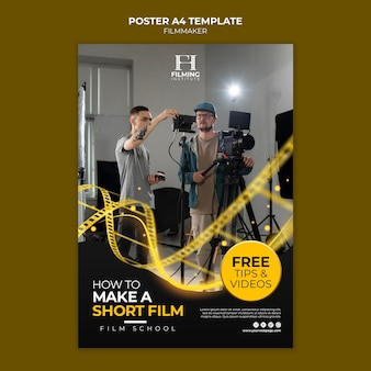 Projekt szablonu plakatu filmowca