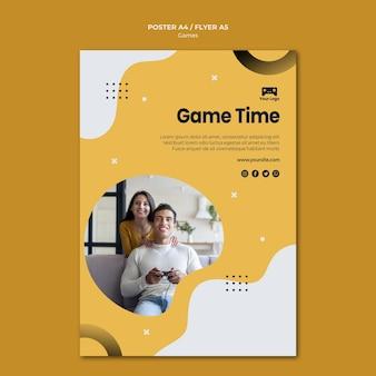 Projekt szablonu plakatu gier