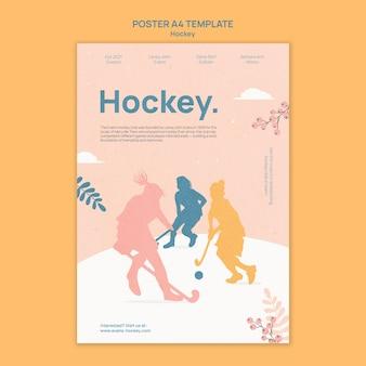 Projekt szablonu plakatu hokejowego