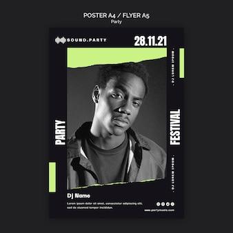 Projekt szablonu plakatu imprezowego
