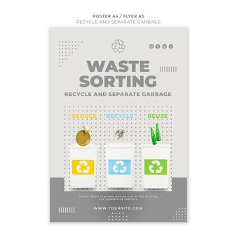 Projekt szablonu plakatu koncepcji recyklingu