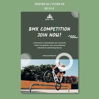 Projekt szablonu plakatu rowerowego