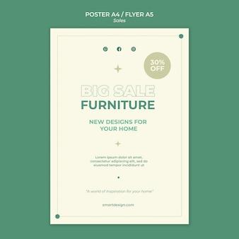 Projekt szablonu plakatu sprzedaży