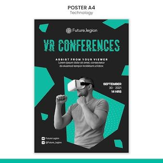 Projekt szablonu plakatu technologii
