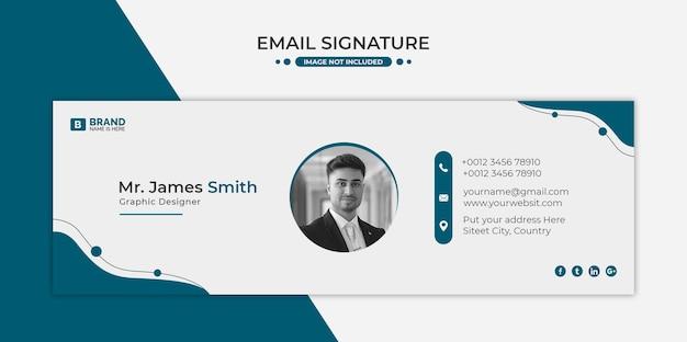 Projekt szablonu podpisu e-mail lub stopka wiadomości e-mail i osobista okładka na media społecznościowe