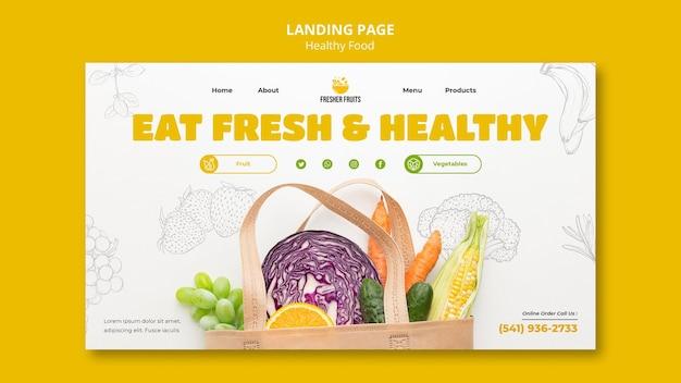 Projekt szablonu strony docelowej bezpieczeństwa żywności
