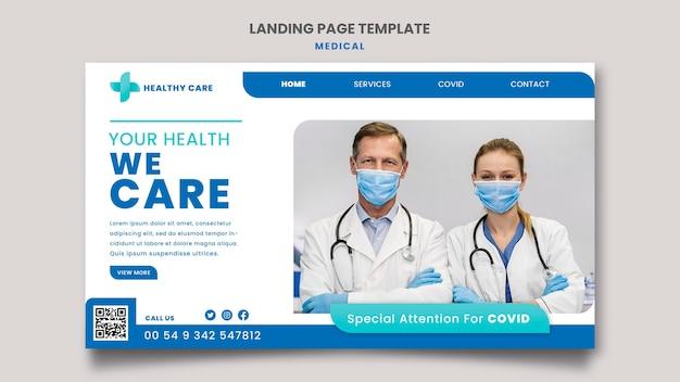 Projekt szablonu strony docelowej opieki medycznej