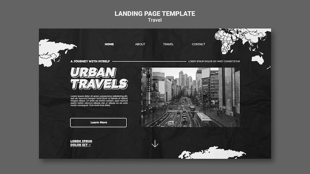 Projekt szablonu strony docelowej podróży miejskich