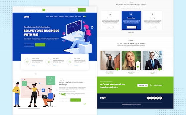 Projekt szablonu strony internetowej agencji kreatywnej