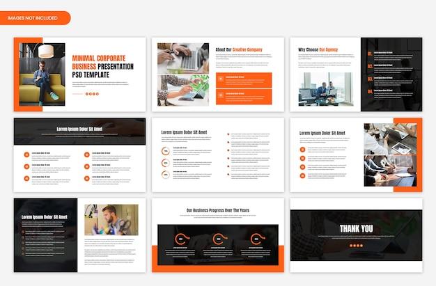 Projekt szablonu suwaka prezentacji biznesowej firmy