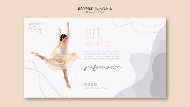 Projekt szablonu transparent akademia sztuki
