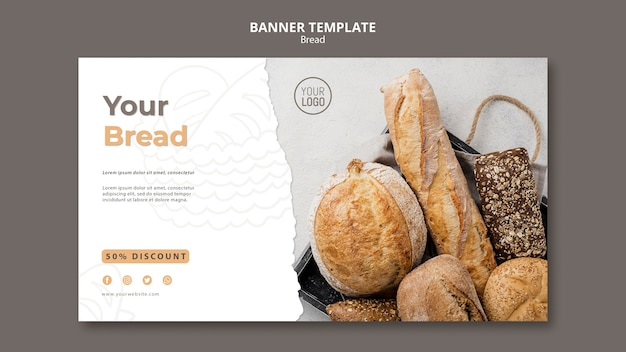 Projekt szablonu transparent chleb