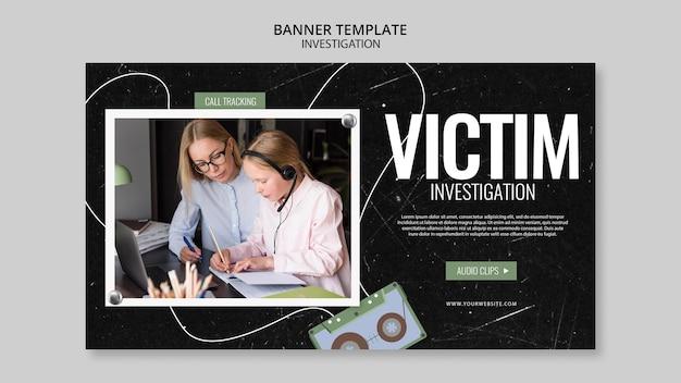 Projekt szablonu transparent dochodzenia