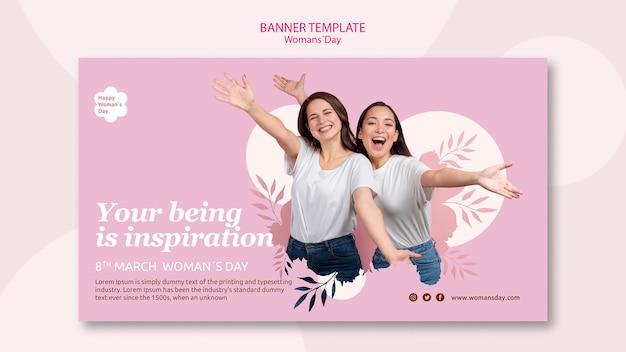 Projekt szablonu transparent dzień kobiet