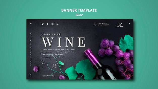 Projekt szablonu transparent firmy wina