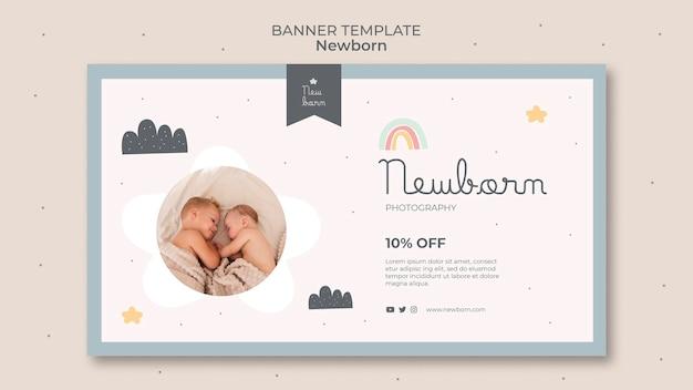 Projekt szablonu transparent noworodka