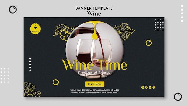Projekt szablonu transparent wino