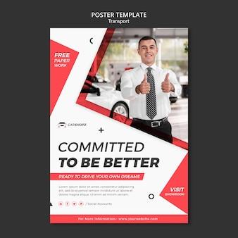 Projekt szablonu transportu plakatu