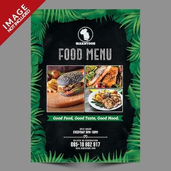Projekt szablonu ulotki dla restauracji fast food