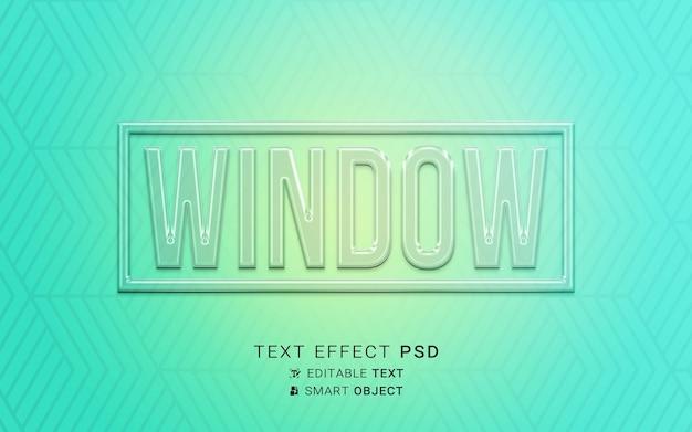 Projekt szkła z efektem tekstu