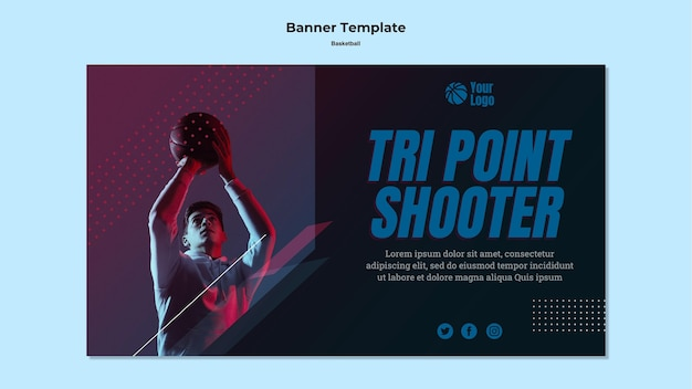 Projekt transparentu koszykówki