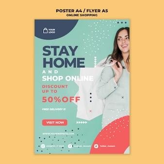 Projekt ulotki dotyczącej zakupów online