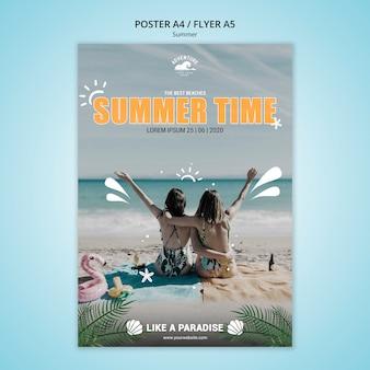 Projekt ulotki koncepcja lato