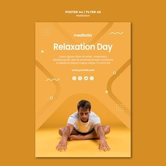 Projekt ulotki koncepcja medytacji