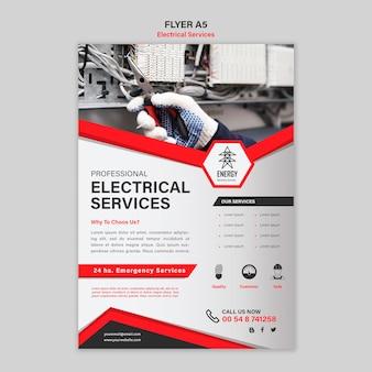 Projekt ulotki usług elektrycznych