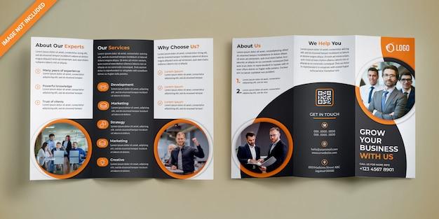 Projektowanie broszur biznesowych trifold