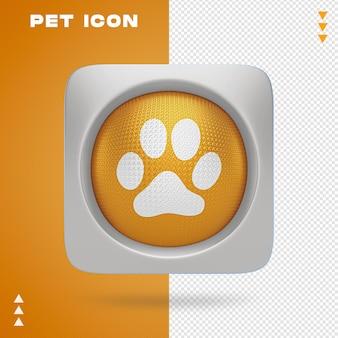 Projektowanie ikon zwierząt domowych w renderowaniu 3d