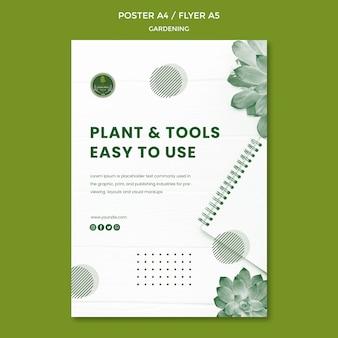 Projektowanie szablonu plakat ogrodniczy