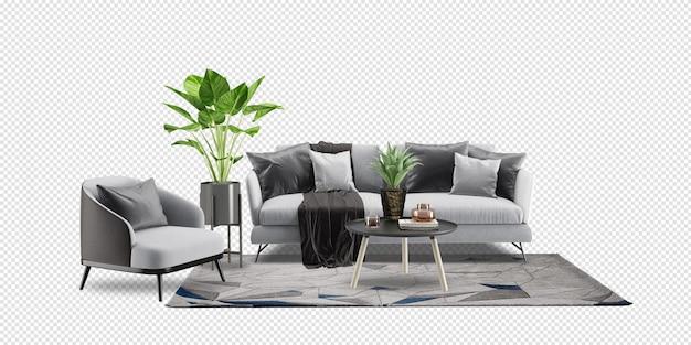 Projektowanie wnętrz salonu w renderowaniu 3d