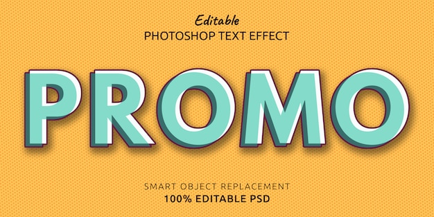 Promo edytowalny efekt stylu tekstu