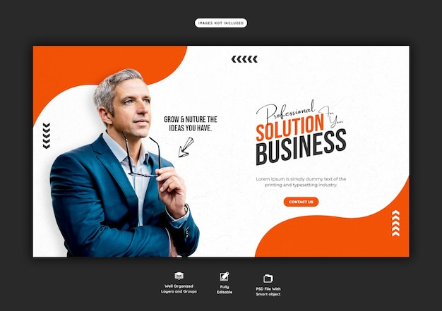 Promocja biznesowa i szablon korporacyjnego banera internetowego