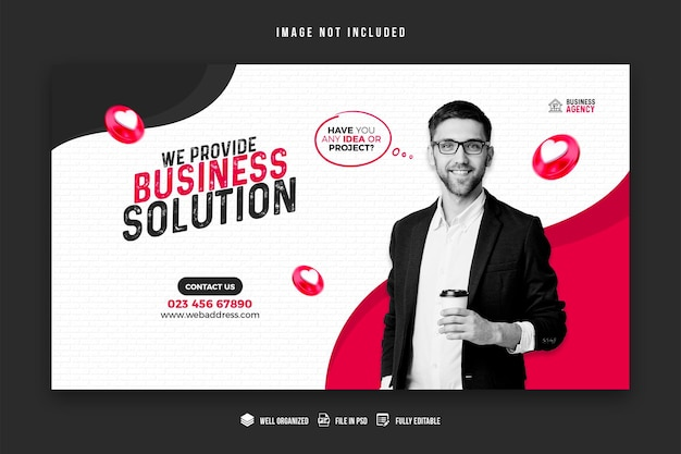 Promocja Biznesowa I Szablon Projektu Banera Korporacyjnego Premium Psd