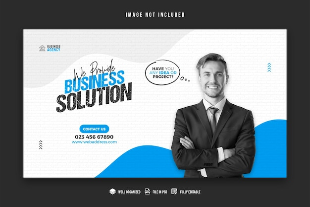 Promocja biznesowa i szablon projektu banera korporacyjnego
