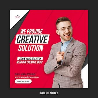 Promocja biznesu i szablon banera korporacyjnego mediów społecznościowych